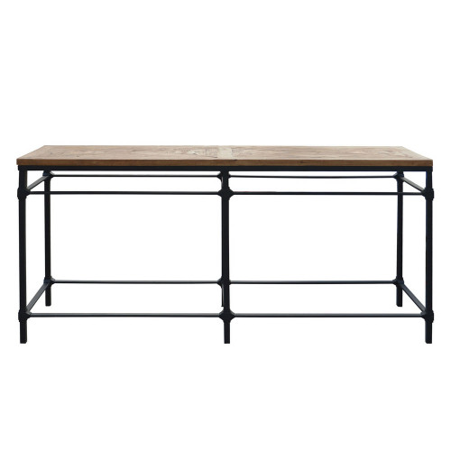 Alsace Vintage Industrial Console Table - Parquet Top