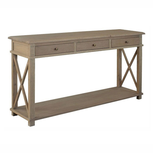 Xavier Console Table - Weathered Oak