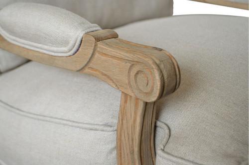 Henrietta Armchair - Weathered Oak - Detail