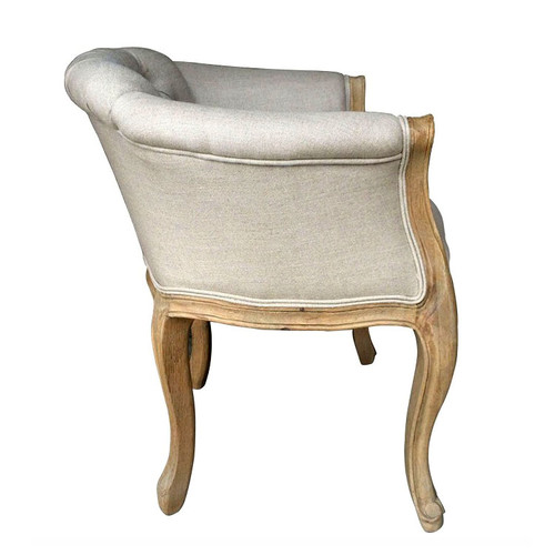 Monette Tufted Armchair - side view