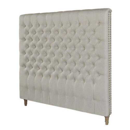 Marquis Upholstered Queen Headboard (Natural)