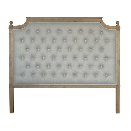 Francesca Tufted Queen Headboard - Natural Linen