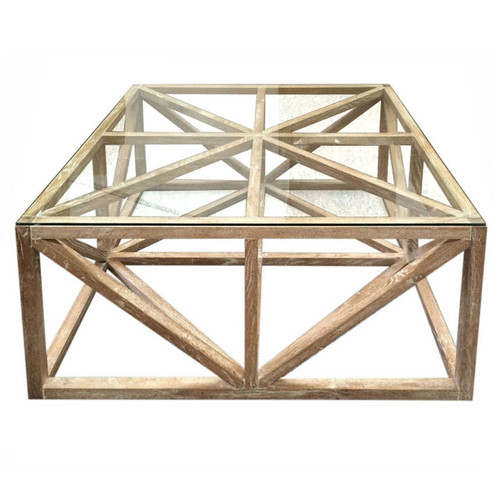 Geometric Oak Coffee Table