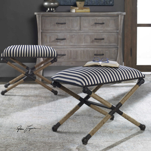 Braddock Small Bench by Uttermost