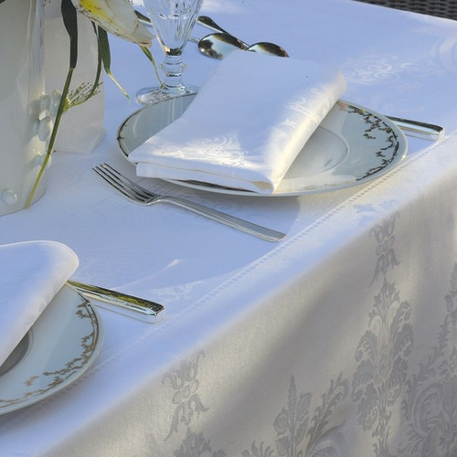 Table Napkins BEAUREGARD Blanc (Set of 2)