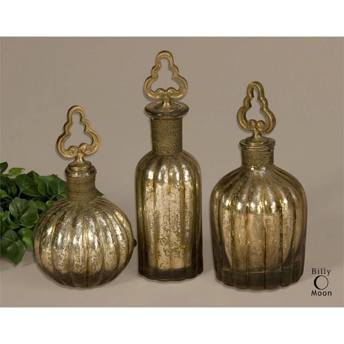 Kaho Perfume Bottles - Set of 3 by Uttermost
