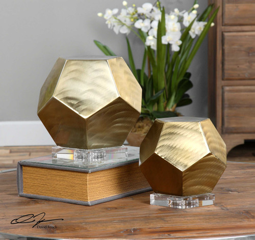 Pentagon Cubes S/2 by Uttermost