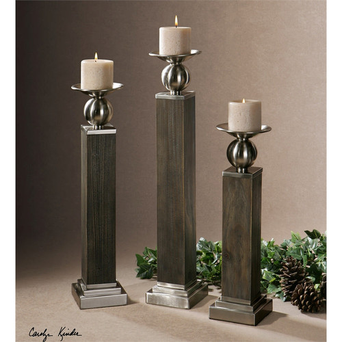 Hestia Candleholders - Set of 3 by Uttermost