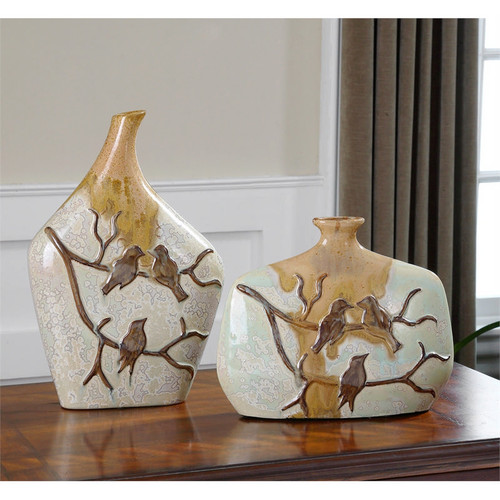 Pajaro Vases - Set of 2 by Uttermost
