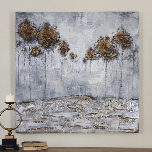Iced Trees Hand Painted Canvas by Uttermost