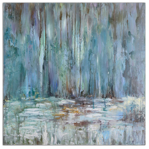 Blue Waterfall Hand Painted Canvas by Uttermost