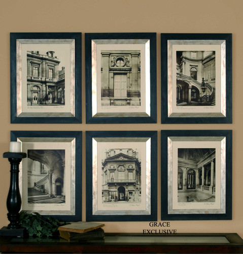 Paris Scene Framed Prints S/6 by Uttermost