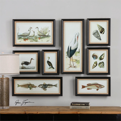 Seashore Collage Set of 8 a Prints Framed by Uttermost
