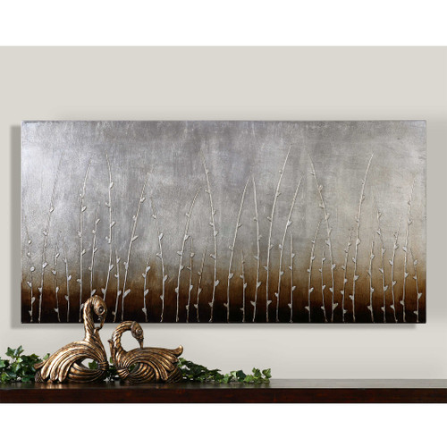 Sterling Branches Hand Painted Canvas by Uttermost