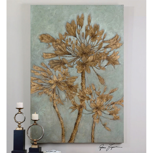 Golden Leaves a Paintings by Uttermost