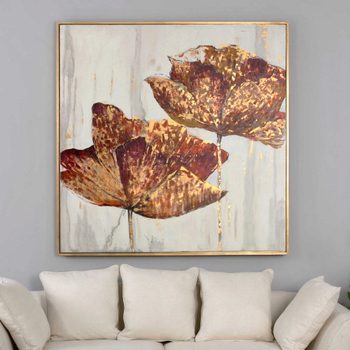 Golden Accents Hand Painted Canvas by Uttermost
