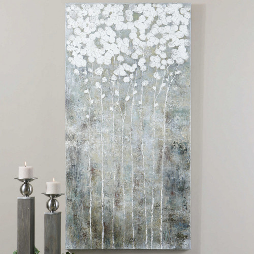 Cotton Florals Hand Painted Canvas by Uttermost