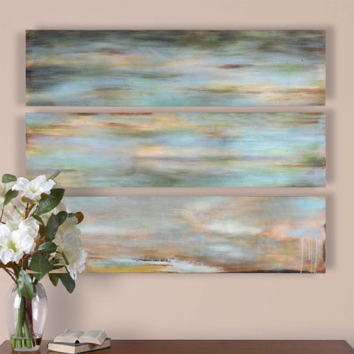 Horizon View Hand Painted Canvases S/3 by Uttermost