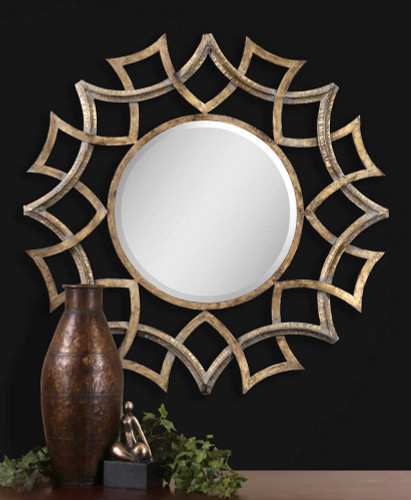Demarco Round Mirror by Uttermost