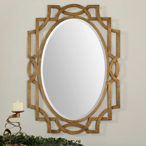 Margutta Oval Mirror by Uttermost