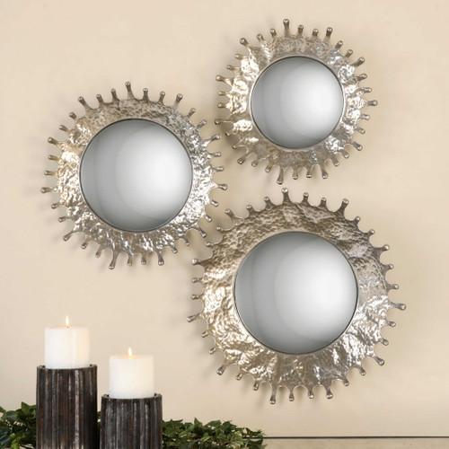 Rain Splash Round Mirrors S/3 by Uttermost