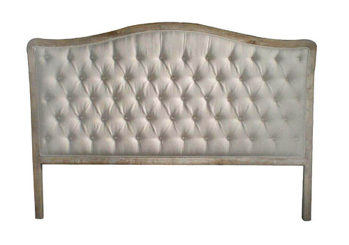 Antoinette Queen Headboard - Natural Linen