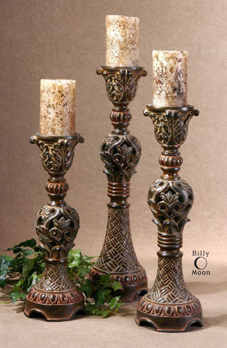 Rosina Candleholders S/3 by Uttermost