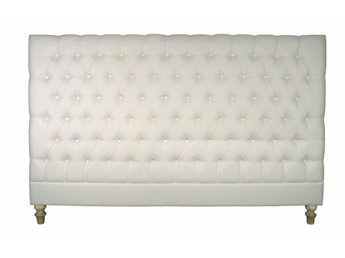 Marquis Upholstered King Headboard (Soft White)