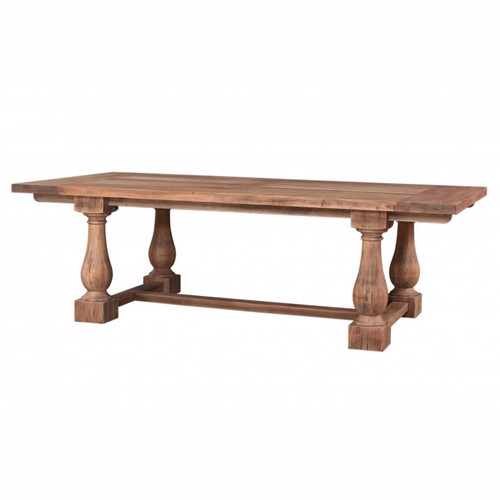Hemmingway Dining Table 240cm - Size: 76H x 244W x 102D (cm)