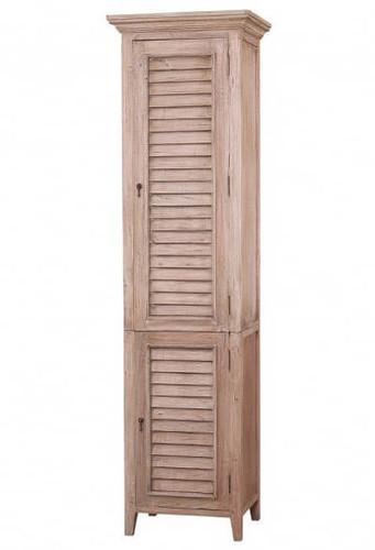 Shutter Tall Bath Cabinet - Size: 221H x 61W x 46D (cm)