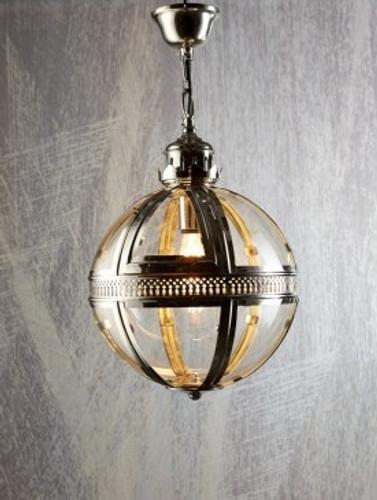 Saxon Pendant Light Nickel Small 32cm