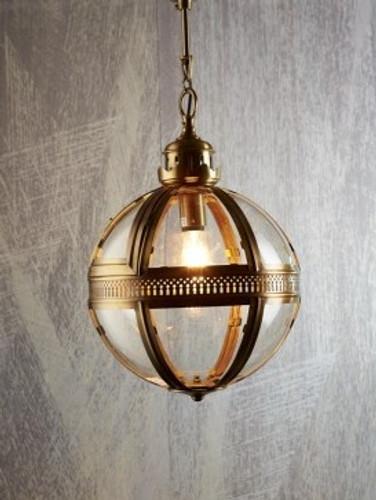 Saxon Pendant Light A/Brass Med 45cm