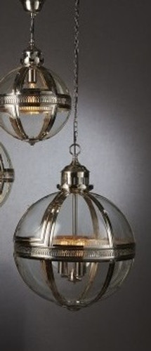 Saxon Pendant Light Nickel Large 55cm
