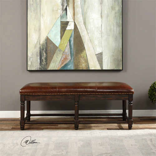 Bartonelle Leather Bench by Uttermost