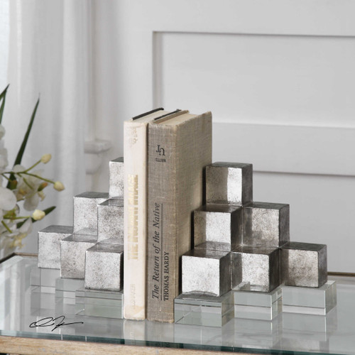 Valerio Bookends S/2 by Uttermost