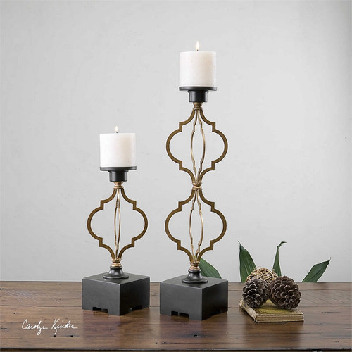 Gilberto Candleholders Set/2 by Uttermost