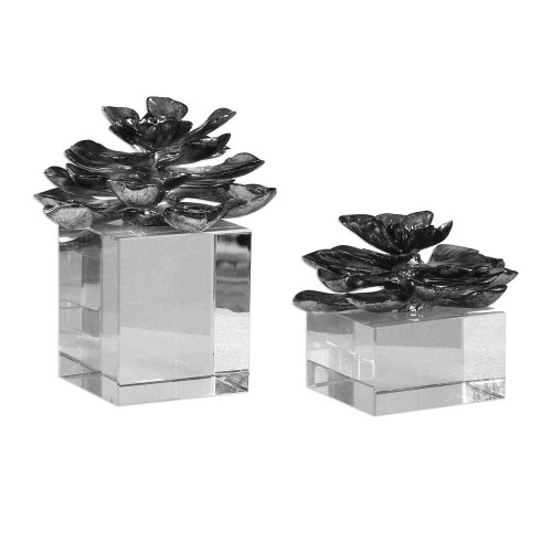 Indian Lotus Sculptures S/2 by Uttermost