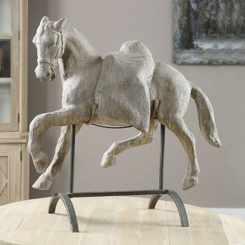Lazzaro Horse Sculpture by Uttermost