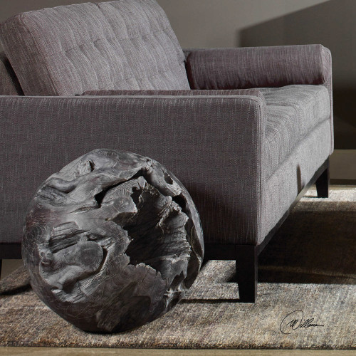 Deco Teak Ball by Uttermost