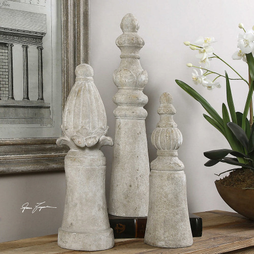Asmund Finials S/3 by Uttermost