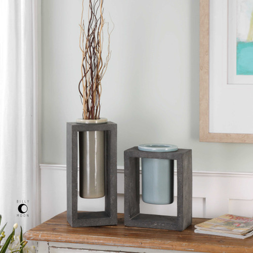 Pio Vases S/2 by Uttermost