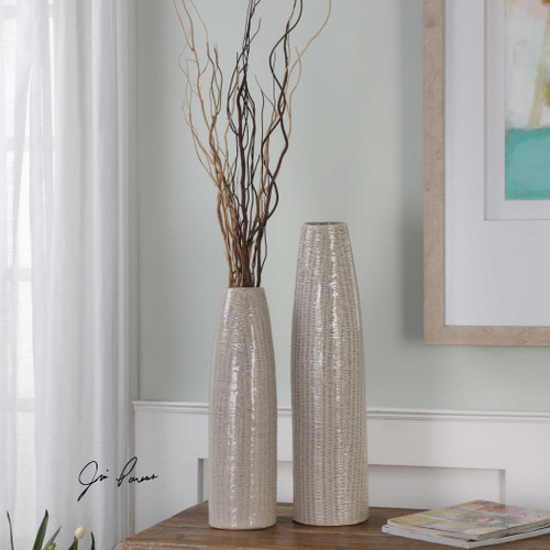 Sara Vases S/2 by Uttermost