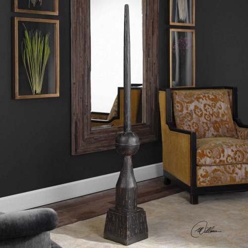 Filippo Floor Finial Black by Uttermost