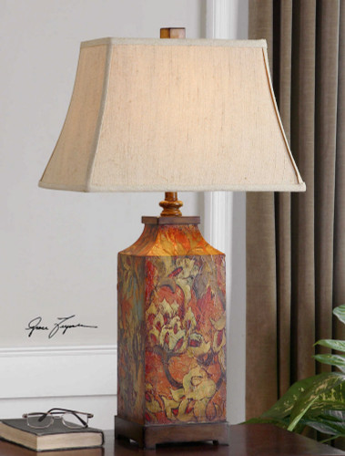 Colorful Flowers Table Lamp by Uttermost