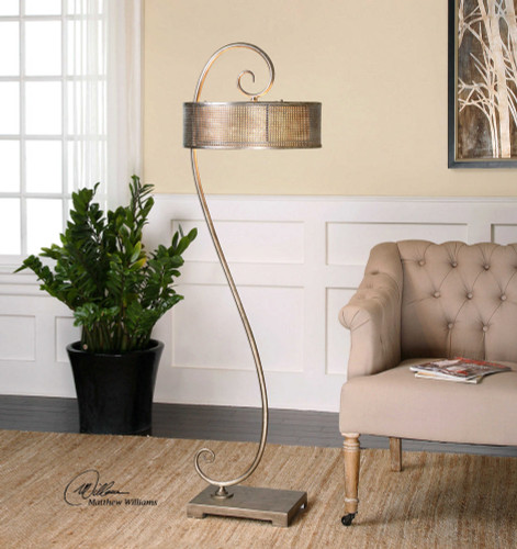 Dalou Scroll Floor Lamp by Uttermost