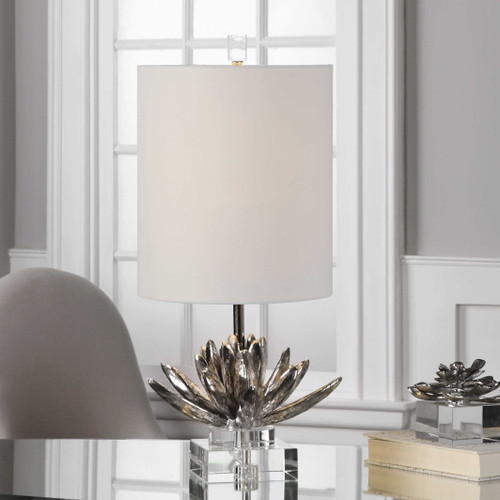 Silver Lotus Accent Lamp by Uttermost