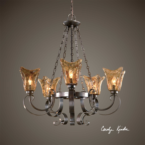 Vetraio 5-Lt Chandelier by Uttermost