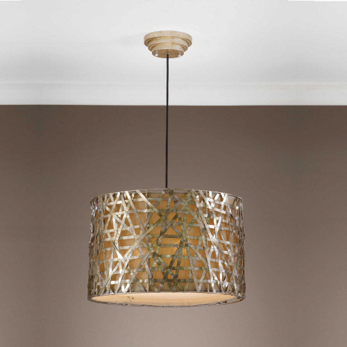Alita Champagne 3 Lt. Pendant by Uttermost