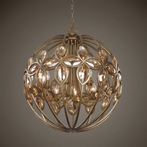 Ambre 8 Lt. Chandelier by Uttermost