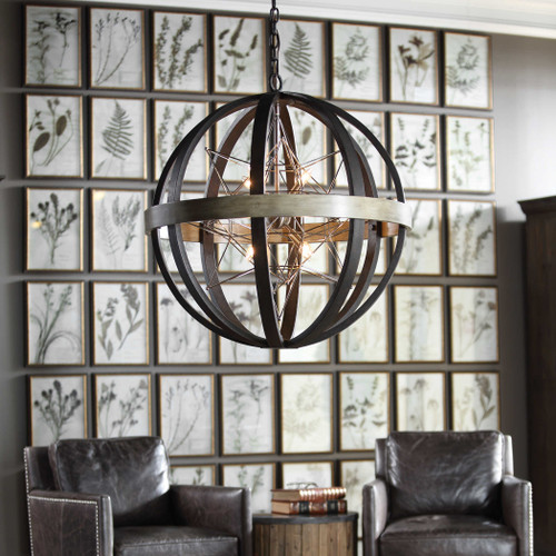 Polaris8 Lt. Chandelier by Uttermost